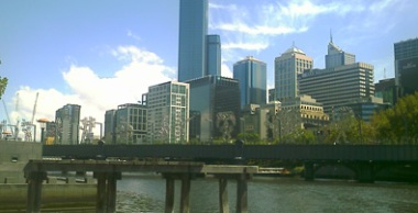 The Yarra River from SouthBank